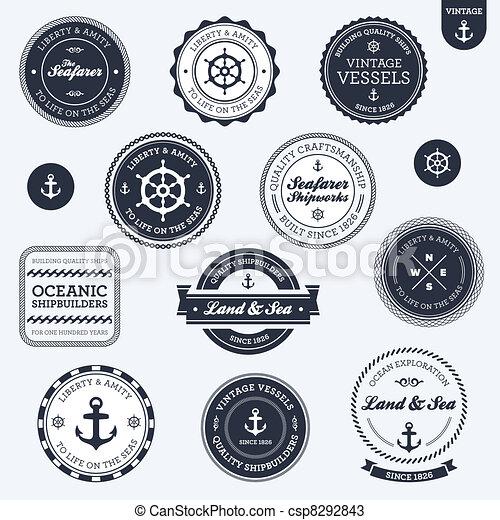 Vintage nautical labels - csp8292843