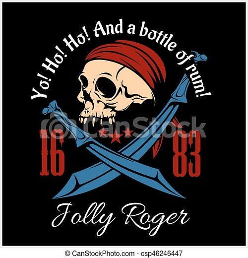 Vintage Nautical Labels or Design Elements With Retro Textures and Typography. Pirates, Harpoons, Mermaid, Sailfish, etc. Fits Perfect for a T-shirt Design, Logos so on. Isolated Vector Illustration. - csp46246447