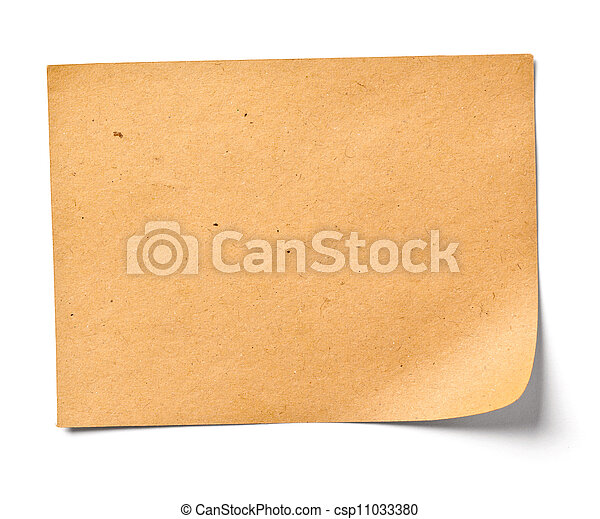 vintage note paper office business - csp11033380