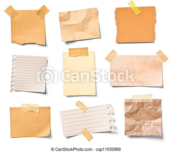 vintage note paper office business - csp11035989