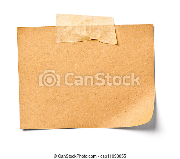 vintage note paper office business - csp11033055