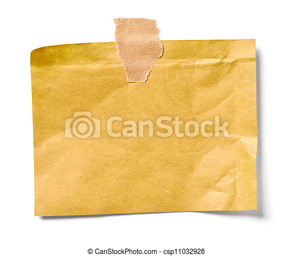 vintage note paper office business - csp11032928