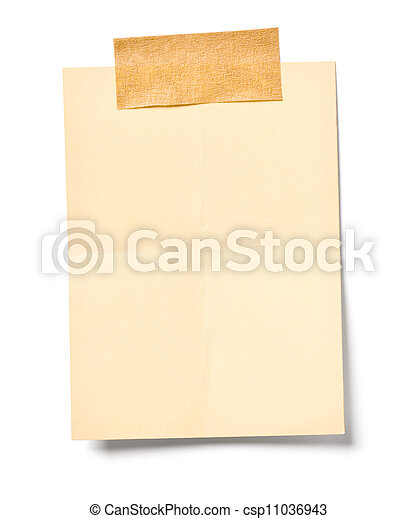 vintage note paper office business - csp11036943