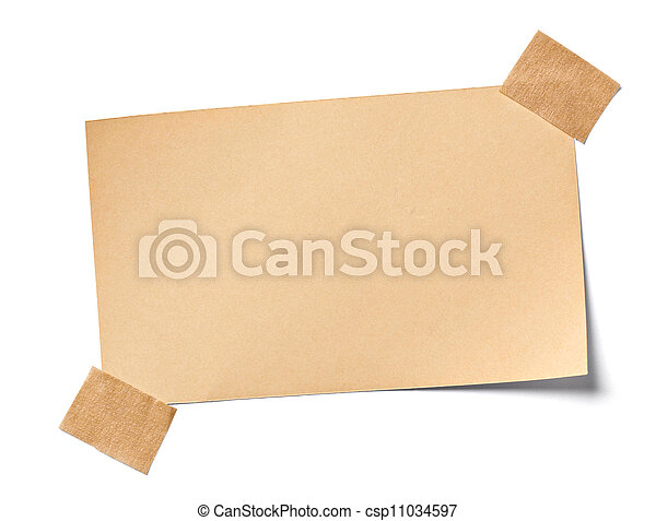 vintage note paper office business - csp11034597