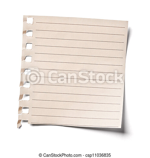 vintage note paper office business - csp11036835