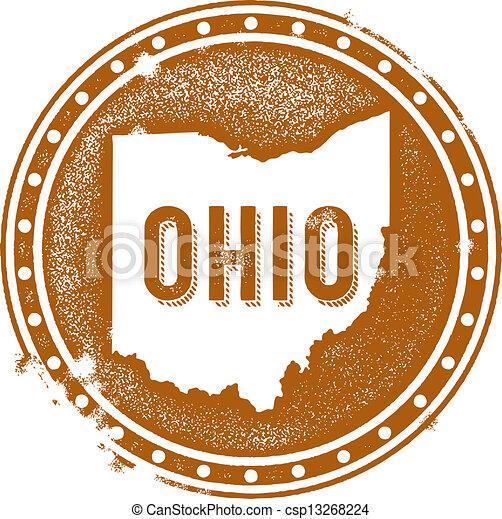 Vintage Ohio USA State Stamp - csp13268224