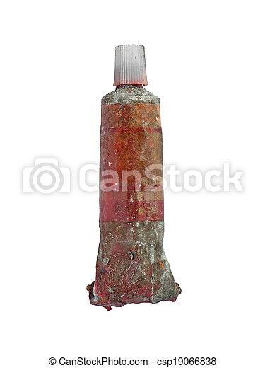 vintage oil paint tube - csp19066838