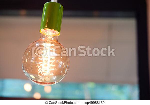 Vintage or retro lamp - csp49988150