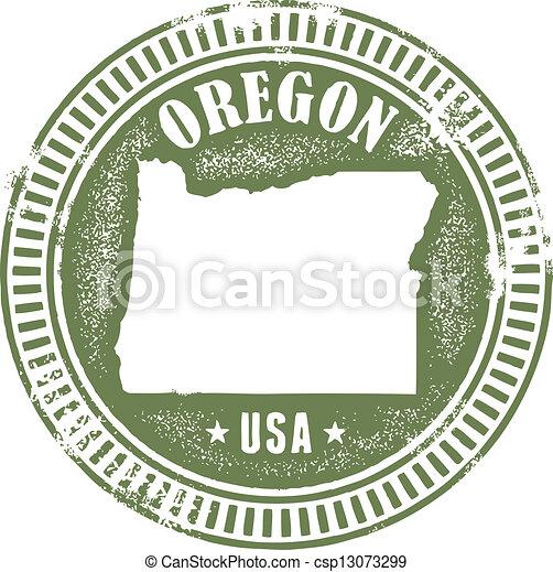 Vintage Oregon State Stamp - csp13073299