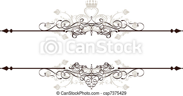 Vintage Ornamental Banner - csp7375429