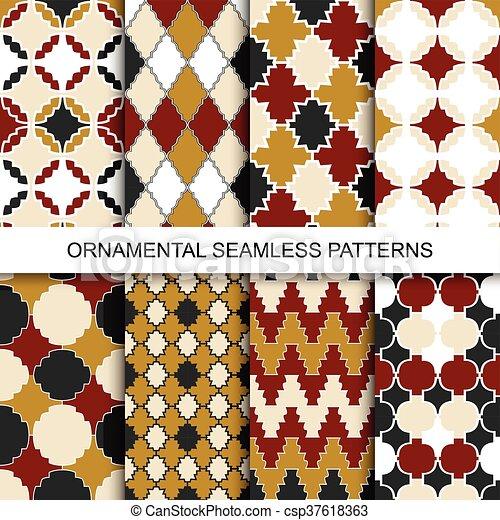 Vintage ornamental patterns - seamless. - csp37618363