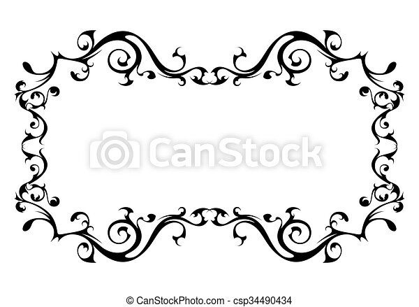 Vintage ornamental vector frame - csp34490434