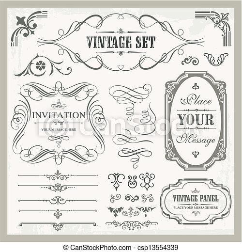 Vintage Ornaments - csp13554339