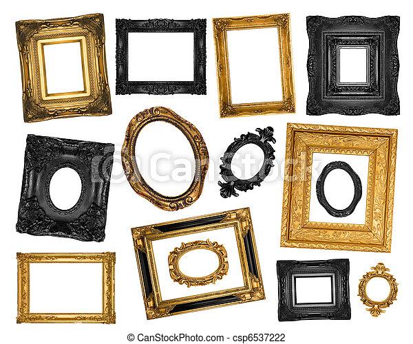 Vintage ornate frames  - csp6537222