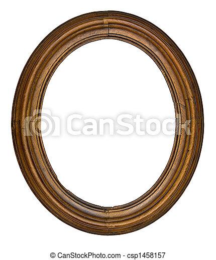 vintage oval frame - csp1458157