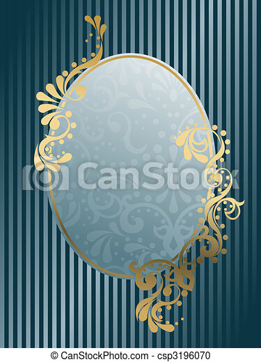 Vintage oval Victorian frame - csp3196070