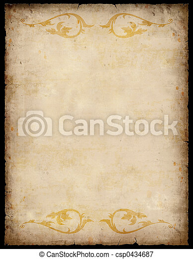 Vintage Paper Background with patterns - csp0434687