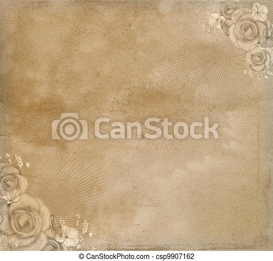 Vintage paper. - csp9907162