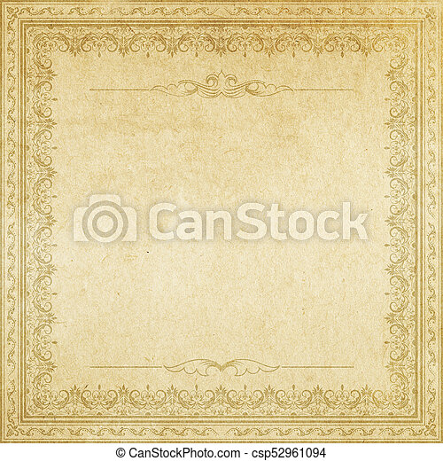 Vintage Paper With Decorative Border
