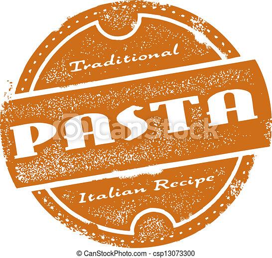 Vintage Pasta Menu Stamp - csp13073300
