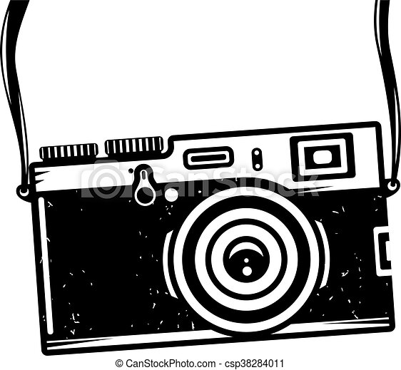 vintage photo camera vector illustration for your cool vector rh canstockphoto com vintage camera clipart free vintage video camera clipart