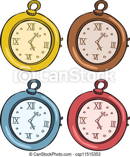 vintage pocket watch clipart vector search illustration drawings rh canstockphoto com Digital Clock Numbers Cartoon Digital Clock