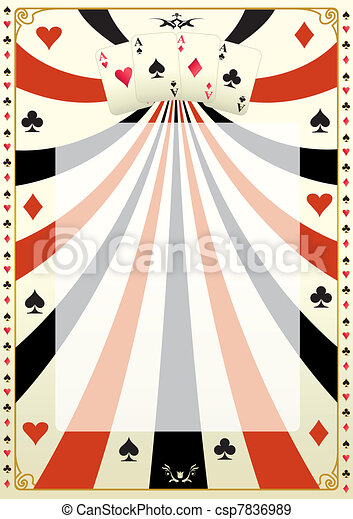 Vintage poker background - csp7836989