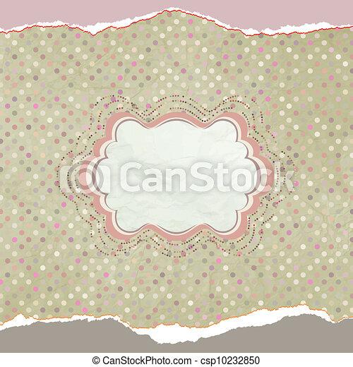 Vintage polka dot card. EPS 8 - csp10232850
