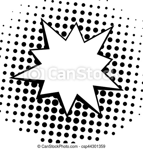 vintage pop art comics speech bubbles vector black and white