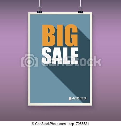 Vintage poster big sale. - csp17055531