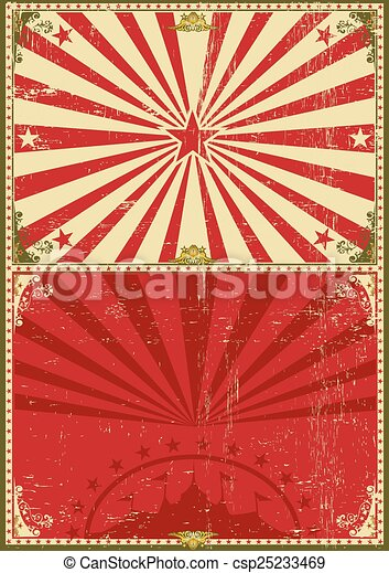 Vintage poster circus background - csp25233469