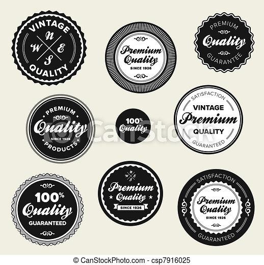 Vintage premium quality badges - csp7916025