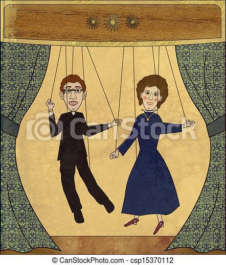 Vintage puppet theater - csp15370112