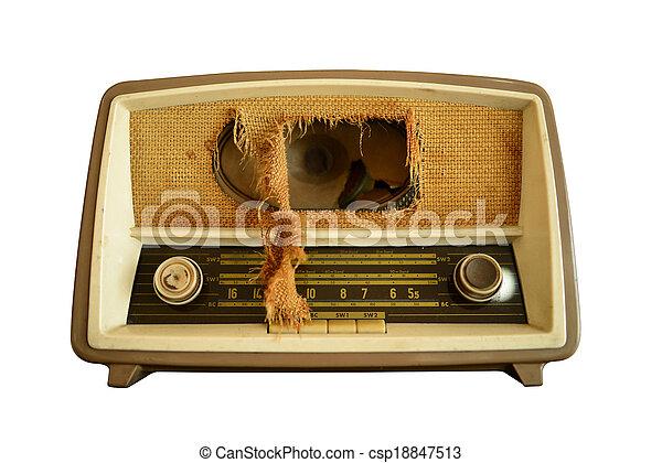 Vintage radio - csp18847513
