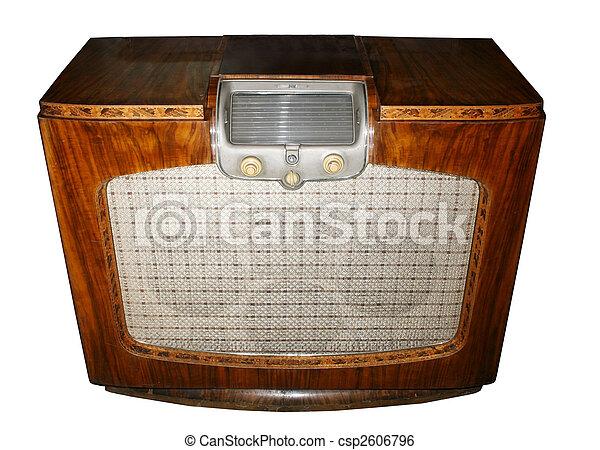 Vintage radio - csp2606796