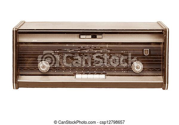Vintage radio - csp12798657