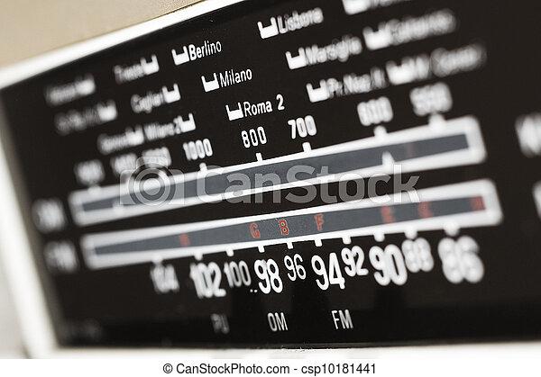 vintage radio - csp10181441