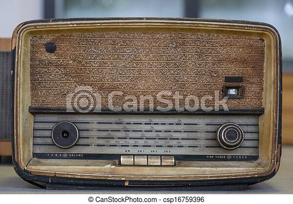 Vintage radio - csp16759396