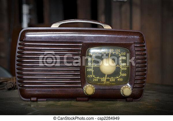 Vintage Radio - csp2284949