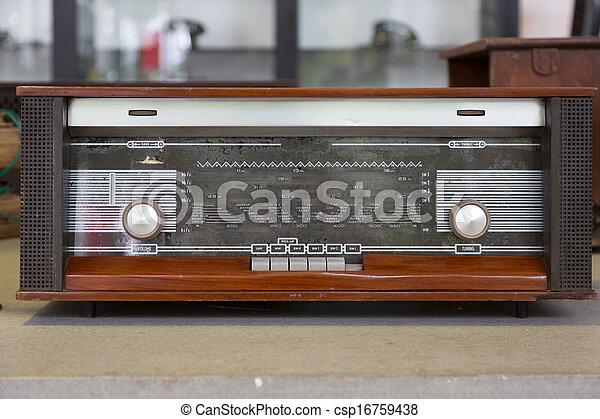 Vintage radio - csp16759438