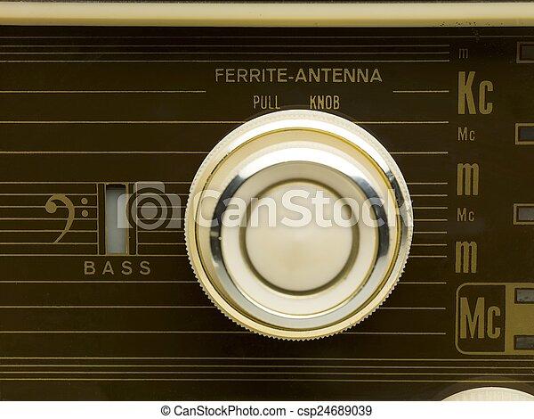 vintage radio - csp24689039