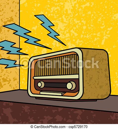 vintage radio vintage radio pop art illustration rh canstockphoto com clipart radio station radio cliparts vector
