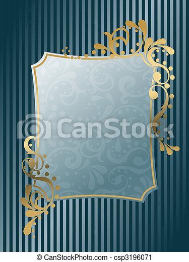 Vintage rectangular Victorian frame - csp3196071