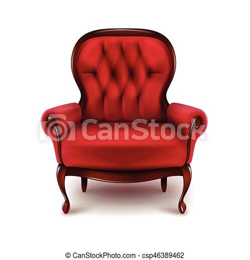 Vintage red armchair - csp46389462