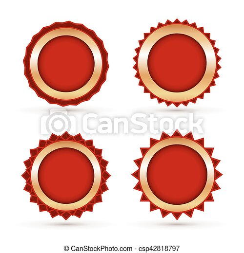 vintage red labels template set vector illustration eps vectors rh canstockphoto com vector label art nouveau vector label + ordihull