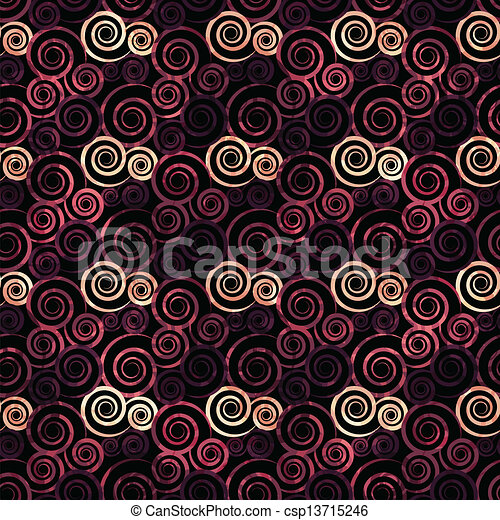 vintage red spiral seamless - csp13715246