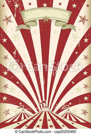 Vintage Red Sun Circus