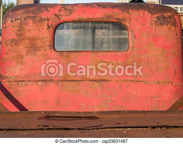 Vintage Red Truck - csp33631497