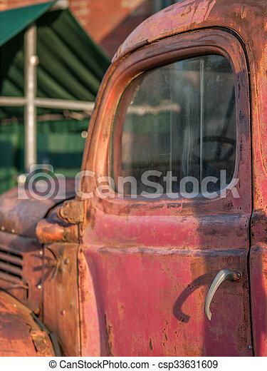 Vintage Red Truck - csp33631609