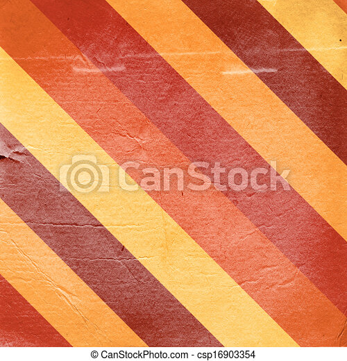 Vintage red yellow striped paper background - csp16903354